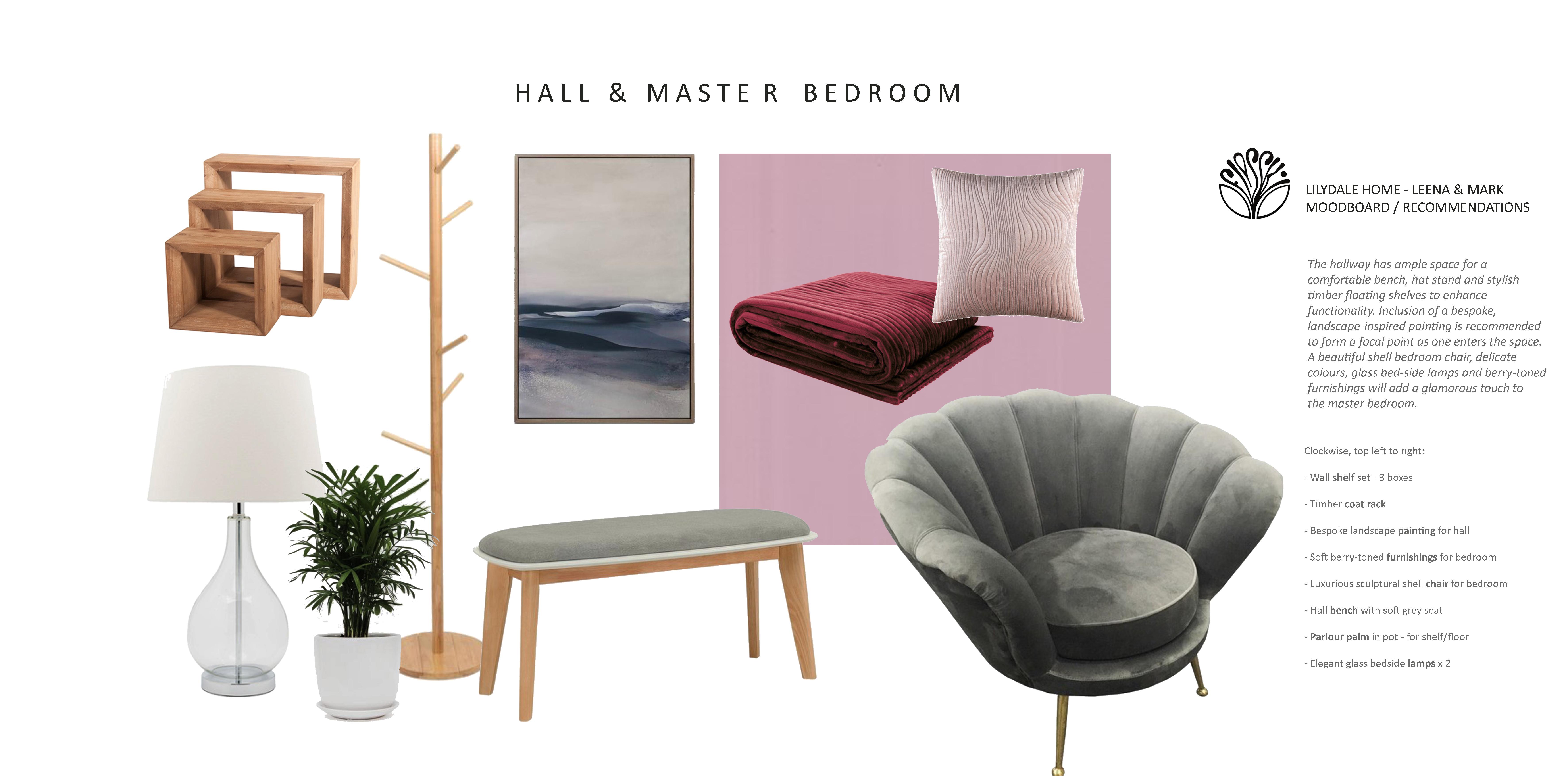 Hall & bedrooms