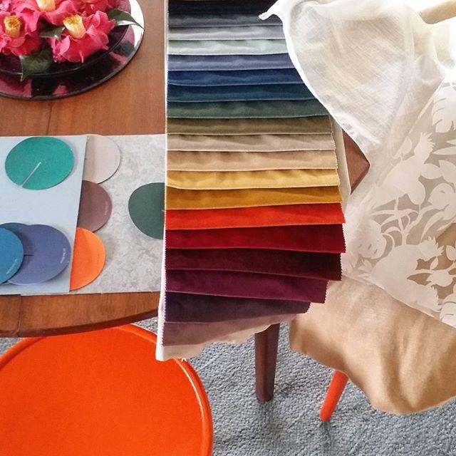Selecting velvet drapes, flooring & wall