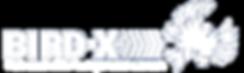 Il logo della Bird-X Inc. si lega alla parola Italia, per formare il nuovo logo Bird-X Italia