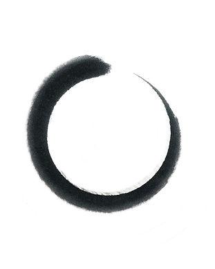 Black circle brush stroke frame isolated
