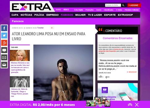 Ator Leandro Lima posa nu em ensaio para livro