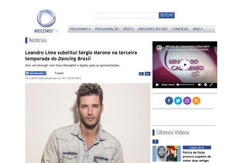 Leandro Lima substitui Sérgio Marone na terceira temporada do Dancing Brasil