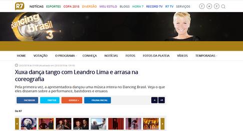 Xuxa dança tango com Leandro Lima e arrasa na coreografia