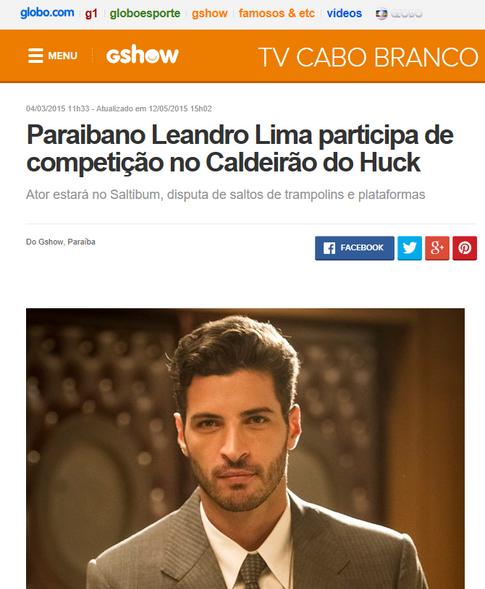 Paraibano Leandro Lima participa de competição no Caldeirão do Huck