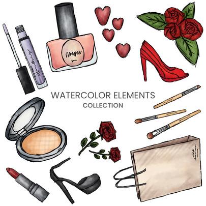 Watercolor-Fashion-Elements-White