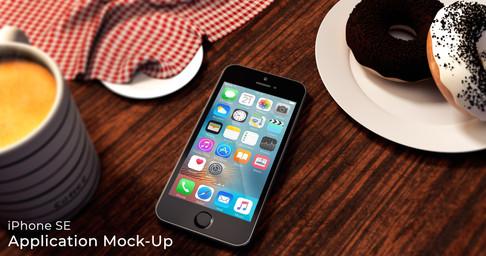 Coffee & Donuts iPhone SE mockup