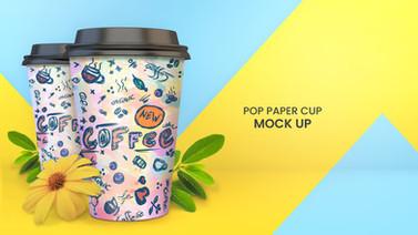 Pop Paper Cup Mockup
