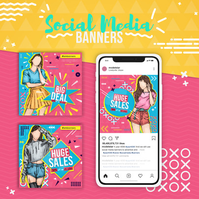 Fashion Model Social Media Banner
