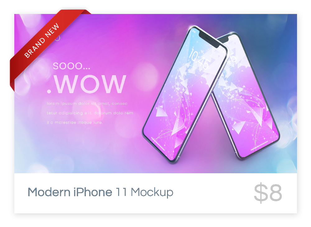 Modern iPhone 11 mockup