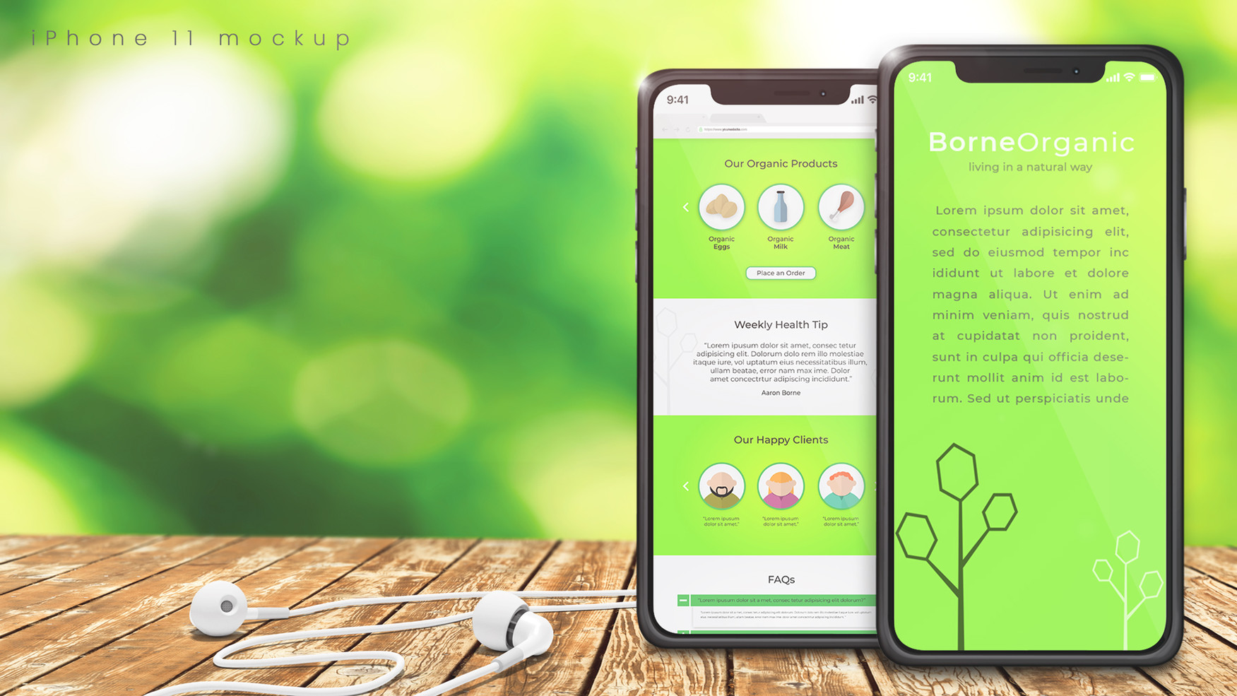 Two iPhones on Green Background.jpg