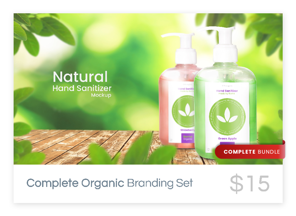 Complete Organic Branding Mockup