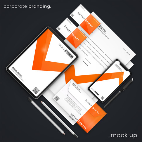 Orange Corporate Branding Mockup