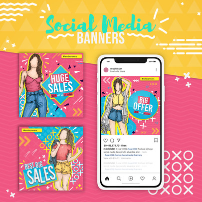 Fashion Model Social Media Banner 3
