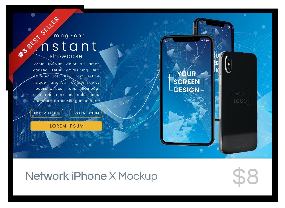Network iPhone X Mockup