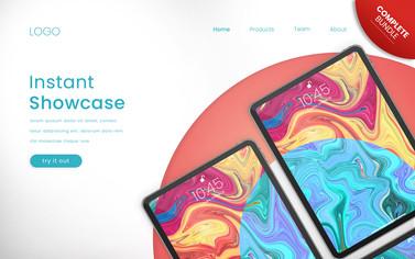 Colorful Device Landingpage Mockup Collection