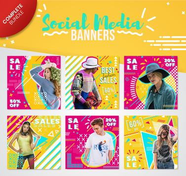Pop Art Social Media Banner Collection
