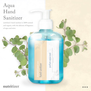 Organic Hand Sanitizer Mockup With Leaves