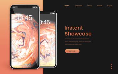 Orange iPhone 11 Mockup Landing Page