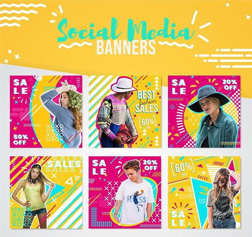 Pop Art Social Media Banners
