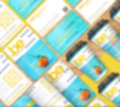Yellow and Blue Shop Branding Mockup