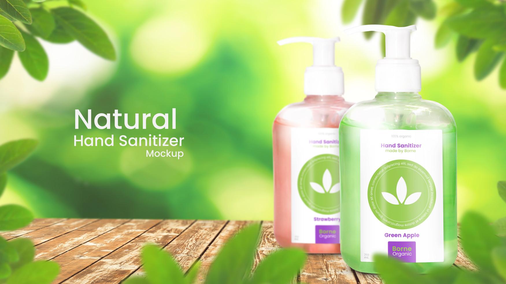 Two Bottles of Organic Hand Sanitizer