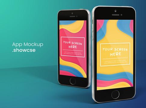 Colorful 3D iPhone SE Mockup
