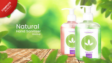 Complete Organic Branding mockup set