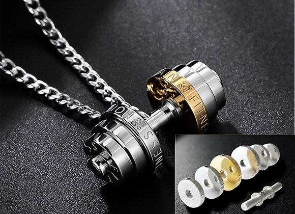 Barbell Pendant Necklace