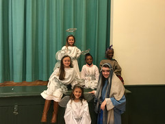 Living Nativity Angels, Shepherd & Mary