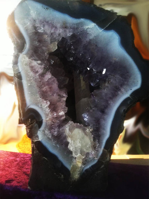 Amethyst Cathederal Calcite WAND Embedded