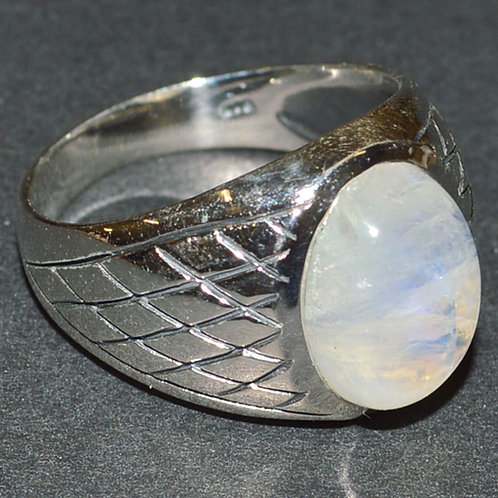Moonstone 925 Sterling Silver Ring s.11