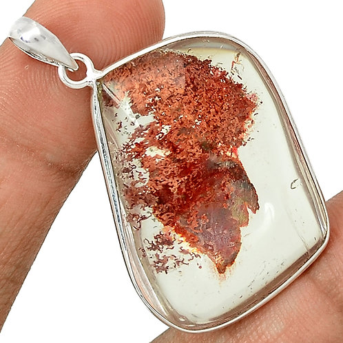 Lodolite Scenic Quartz 925 Sterling Silver Necklace