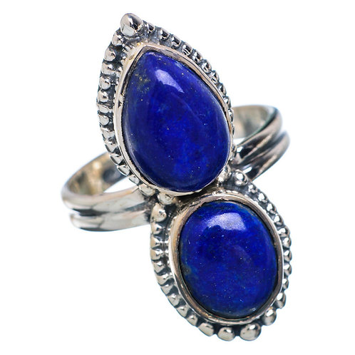 Lapis Lazuli 925 Sterling Silver Ring Size 7