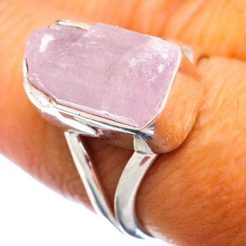 Kunzite 925 Sterling Silver Ring Size 7