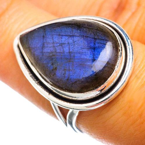 Labradorite 925 Sterling Silver Ring Size 7