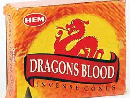Dragon's Blood HEM Incense Cones 10 pack