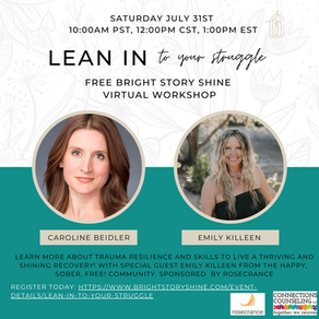 LEAN IN and Connect with Bright Story Shine