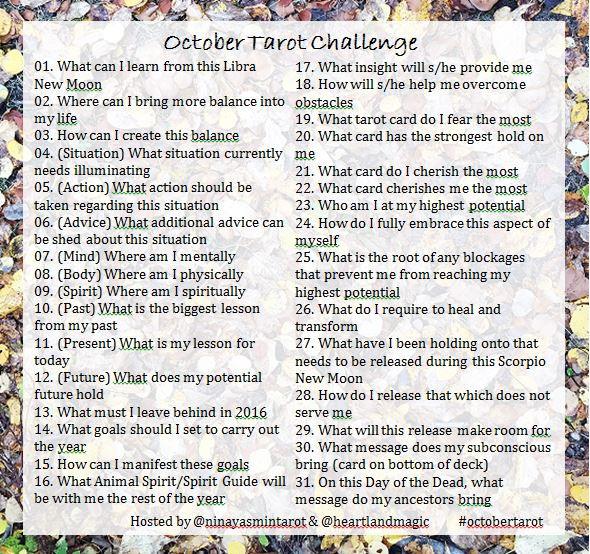 October Renewal Tarot Challenge