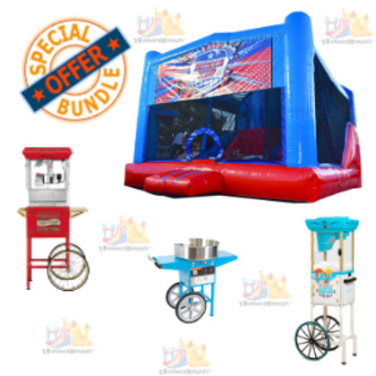 Blue Deluxe Bounce House + 3 Concessions Combo
