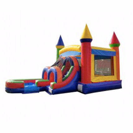 Wet/Dry Combo Bounce House | Rainbow