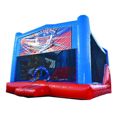 7-in-1 Deluxe Bounce House | Blue