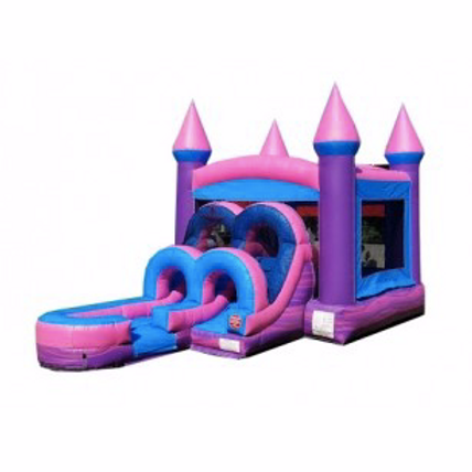 Wet/Dry Combo Bounce House | Pink