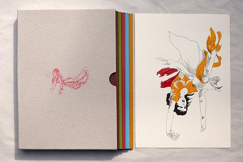 """""""Queer Paper Gardens"""" artist book in 5 volumes"""