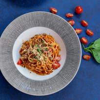 vegetarian pasta peppers malia