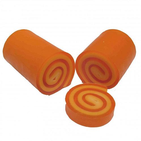 Jabón enrollado -  Naranja y canela