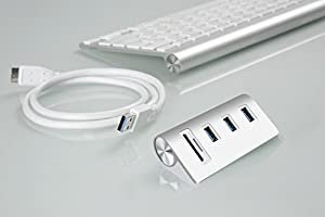 Cateck Bus-Powered USB 3.0 3-Port Aluminum Hub with SD/TF Card Reader Combo