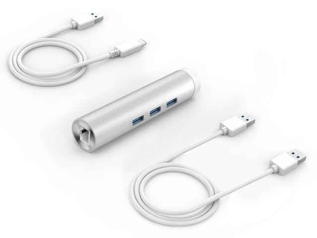 Orico Aluminum 4 Port USB3.0 Hub with RJ45 Ethernet Port