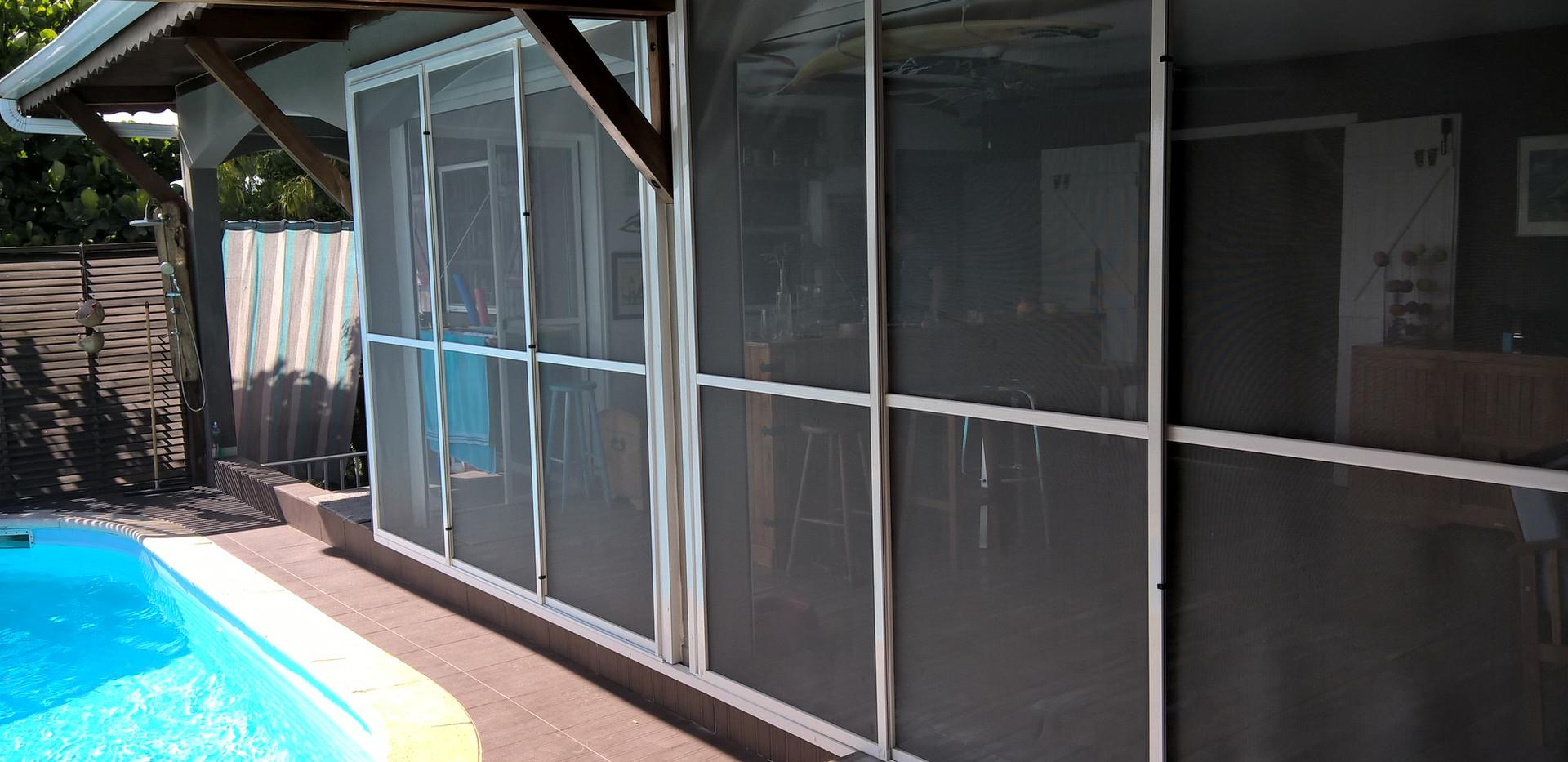 moustiquaire coulissante pour baie vitrée