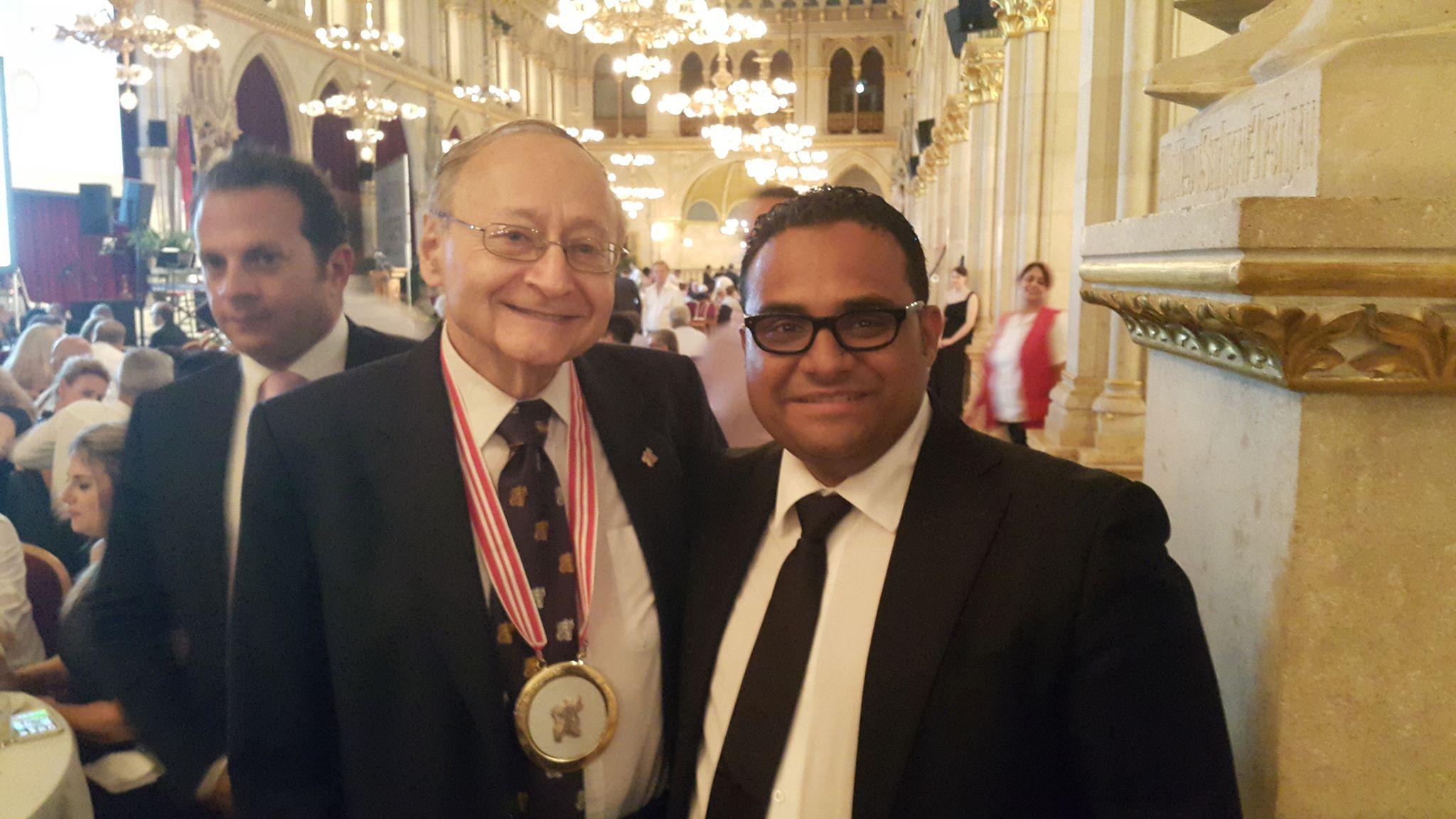 Mervyn Deitel and Ahmed M. Frieg (Forrig) of Alexandria at IFSO Vienna Ball Aug. 28, 2015