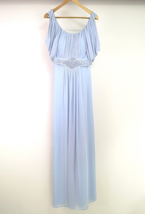 Ref8030 Robe femme fluide Bleu ciel